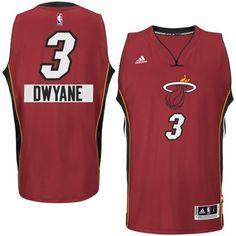 2014-15 Christmas Day jersey Miami Heat 3 Dwyane Wade adidas Red Swingman  Alternate Jersey dd5b81158