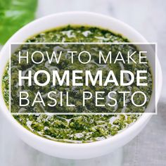 Fresh Basil Recipes, Herb Recipes, Dinner Recipes, Cooking Recipes, Recipes With Herbs, Chicken Pesto Recipes, Basil Pesto Pasta, Recipe For Basil Pesto, Basil Walnut Pesto