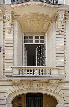 Building facade, 16th arrondissement, Paris, France by Jean Charles Dicharry