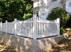 Picket Fence over retaining wall