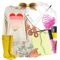 Rainy day, but sunny mood, created by enyboss on Polyvore featuring the Stella & Dot - Capri Chandelier Earrings in Coral