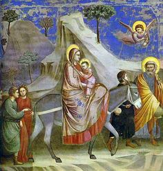 1304-06 Flight Into Egypt GIOTTO di Bondone, forse diminutivo di Ambrogio o Angiolo, conosciuto semplicemente come Giotto (Vespignano, 1267 circa – Firenze, 8 gennaio 1337)  #TuscanyAgriturismoGiratola