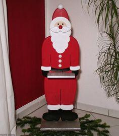 Türsteher-Nikolaus, Weihnachtsmannfigur aus Holz - kostenlose Bauanleitung mit Bauplan bei westfalia.de
