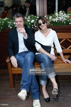 Actress Isabelle Gelinas and Actor Eric Viellard attend Roland Garros Tennis French Open 2013 - Day 2 on May 27, 2013 in Paris, France.