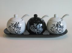 black+and+white+canister+sets   Canister with White Spoon Set