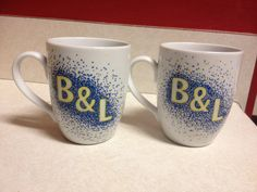 Initial Coffee Mugs by Emeryslove on Etsy