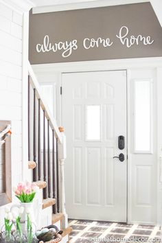 Always Come Home Typography Word Cutout | MDF word sign | Typography | Start at Home Decor