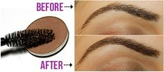 This is a trick that works great for those with fine/light colored brows, or those who want to add a bit of color to their brows without filling them in. Roll the wand through a matte brown eyeshadow that flatters your brows until the bristles are coated, and lightly brush them through the brows.