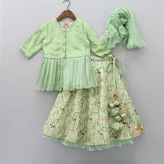 Little Girl Pageant Dresses, Dresses Kids Girl, Baby Girl Dresses, Kids Outfits, Little Fashion, Kids Fashion, Kids Lehanga, Fashion Pants, Fashion Outfits