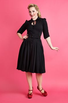 50s Winna Dressy Western Dress in Black - Miss Candyfloss