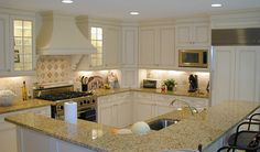 Open kitchen layout- look at that island!!
