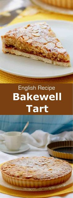 The Bakewell tart is a delicious tart with raspberry jam and frangipane. It is a traditional classic recipe from England. Ingredients 2 cups flour , s. British Desserts, British Bake Off Recipes, British Dishes, Bakewell Tart, Tart Recipes, Baking Recipes, Sweet Recipes, Dessert Simple, Pastries