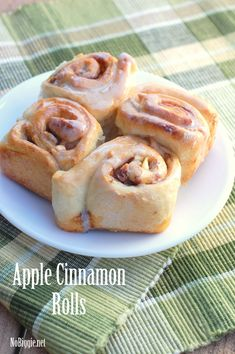 Apple Cinnamon Rolls - recipe on NoBiggie.net