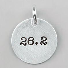 Wholesale 100 Pieces Lots Alloy 26.2 Marathon Disk Running Charm ,marathon 26.2 charm .disk plate charm diy .