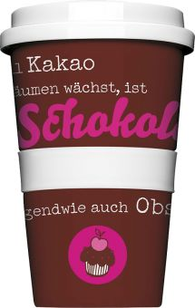 COFFEE-TO-GO Kaffeebecher SCHOKOLADE IST OBST braun #kaffeebecher #coffeetogo #trinkbecher #kaffeetasse #coffee