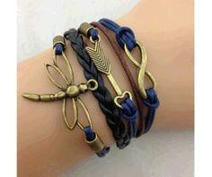 dragonfly bracelets | Infinity, Arrow Dragonfly Bracelet Bronze