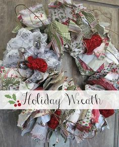 Holiday Wreath created with Authentique Paper at Right at Home Scrapbooking.