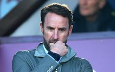 BURNLEY, ENGLAND - FEBRUARY Gareth Southgate, Manager of England looks on during the Premier League match between Burnley FC and Tottenham Hotspur at Turf Moor on February 2019 in Burnley, United Kingdom. (Photo by Alex Livesey/Getty Images) England National Football Team, National Football Teams, Burnley Fc, Gareth Southgate, Premier League Matches, Tottenham Hotspur, United Kingdom, That Look, February