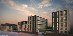 The building will provide accommodation for 590 students from Glasgow University, Glasgow School of Art, Strathclyde University and Glasgow Caledonian University. Glasgow University, Glasgow School Of Art, Multi Story Building, Student, Bedroom, Image, Bedrooms, Dorm Room, Dorm