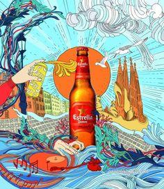 Ilustración Silja Götz - Estrella Damm