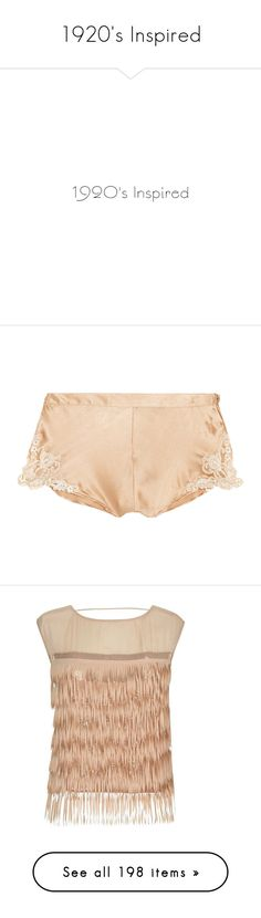 """""""1920's Inspired"""" by monazor ❤ liked on Polyvore featuring text, art deco, phrase, quotes, saying, intimates, panties, lingerie, bottoms and underwear"""