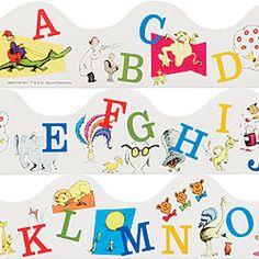 dr. seuss classroom | Dr. Seuss Alphabet Trimmers – Classroom Trimmers & Decor ...