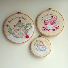 Ideas embroidery hoop wall art fabrics for 2019 Freehand Machine Embroidery, Embroidery Hoop Crafts, Free Motion Embroidery, Free Machine Embroidery, Vintage Embroidery, Embroidery Applique, Cross Stitch Embroidery, Embroidery Patterns, Lazy Daisy Stitch