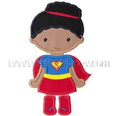 Super Girl (Bun) Applique Design