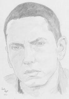Sachin Bhagat Art: Pencil Sketch of Eminem.