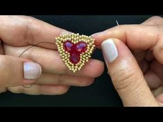 How to make this Dramatic Earring Beaded Earrings.DIY Jewelry - YouTube Seed Bead Patterns, Beading Patterns Free, Beaded Rings, Beaded Bracelets, Beaded Jewelry, Cuff Earrings, Pendant Earrings, Brick Stitch Earrings, Beaded Ornaments