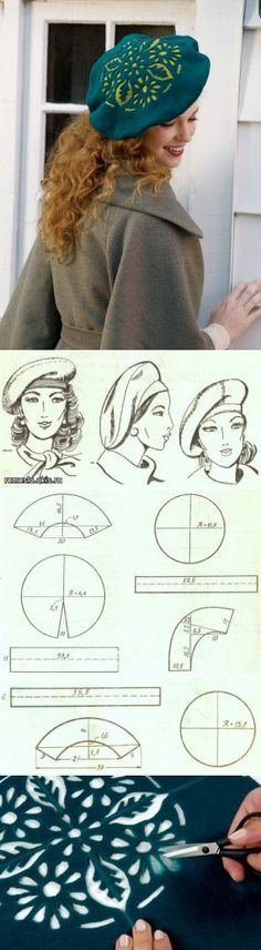 Cap pattern with cut outs (Translate)