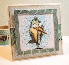 Tobi's Place: Bird Crazy Thanks #crazybirds #birdcrazy @timholtz #copic #cardmaking