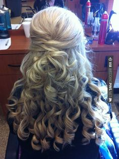 The hair I'm doing for my aunts wedding:)  @Kayla Barkett Barkett Barkett Barkett Barkett <3 @Megan Ward Ward Ward Ward Ward Howard @Katie Hrubec Hrubec Schmeltzer Schmeltzer Schmeltzer Craig