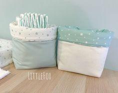 Duo de Panières vert d'eau   Etsy Sewing Alterations, Rope Basket, Meraki, Baby Room, Diaper Bag, Etsy, Storage, Accessories, Ideas