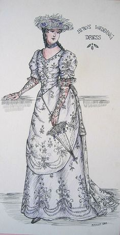 Costume Sketches From My Collection, via Flickr.