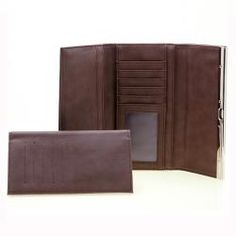 Dasein Faux Leather Trifold Checkbook Wallet with Flip Clasp