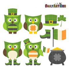St. Patrick's Day Owls