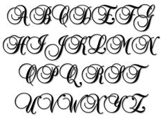 Embroidery Alphabet - Baroque Script machine embroidery font in 4 size