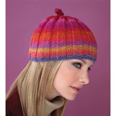 Ribbed Cap // Free knitting patters after free registration.  You do not have to be a subscriber to register.