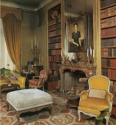 Edward VIII and Wallis Simpson (Duke and Duchess of Windsor)'s Villa on the Bois de Boulogne, Library