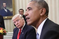 Trump Resents Obama for Acting Like He's Still the President