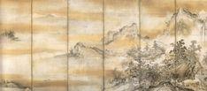 長谷川等伯「瀟湘八景図屏風」  東京国立博物館蔵