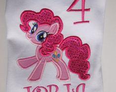 My Little Pony Pinkie Pie Inspired Birthday Tshirt por JorjaPorja