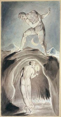Resultado de imagem para william blake moon William Blake Paintings, William Blake Art, Classical Art, Visionary Art, Ex Libris, Ancient Art, Great Artists, Printmaking, Drawings