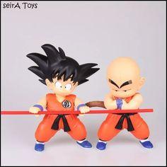Goku Y Krillin Niños 21 Cms. Pvc. Dragon Ball. Entrega. Mty. - $ 779.00