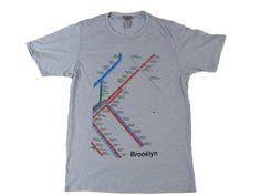 Brooklyn Subway Map T-shirts