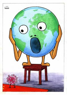 Cartoon: Coronavirus and the Scream of Earth. More The post Coronavirus and the Scream of Earth first appeared on Toons Mag and is written by Makhmudjon Eshonkulov. sketch Coronavirus and the Scream of Earth Wuhan, Cartoon News, Poster Competition, Indoor Activities For Kids, Islamic Art Calligraphy, Lettering Tutorial, Rock Art, Caricature, Smurfs