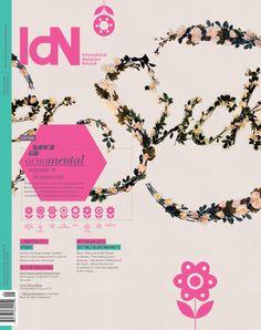 IdN v20n5: Organic Ornaments on Editorial Design Served