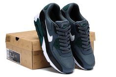 hot sale online 47427 bbe1e Nike Air Max 90 Homme Chaussures Grise Blanche SombreVertJaune Noir Prix  Reduction