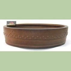 Bonsai Pot-- with modernist design instead of raised border